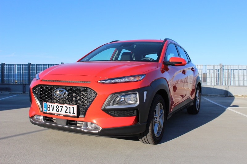 Hyundai Kona 2018 i rød