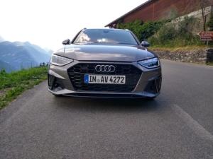 Verdenspremiere. Billede af ny Audi A4 S-Line front
