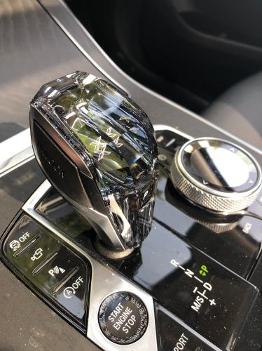 Den skindende krystal gearknop