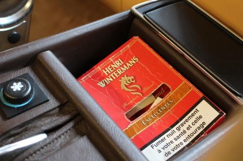 Cigaræske fra den oprindelige ejer