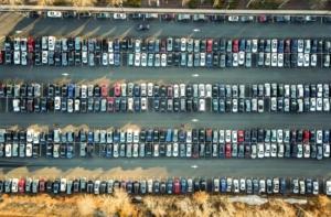 kvinde parkere