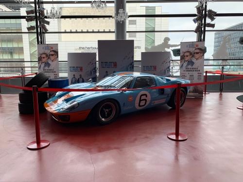 Udstilling af Fords Le Mans bil