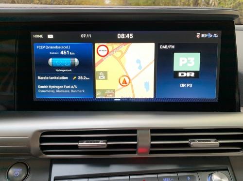 Hyundai Nexo touchskærm