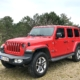 Jeep Wrangler set forfra