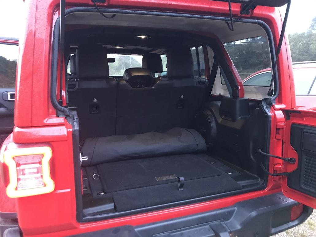 Bagagerum på en Jeep Wrangler
