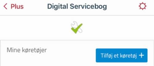 Digital servicebog tilføj køretøj