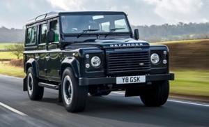 Den tidligere Land Rover Defender